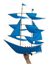 Load image into Gallery viewer, Sailing Ship Kite Azure