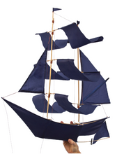Load image into Gallery viewer, Sailing Ship Kite Indigo