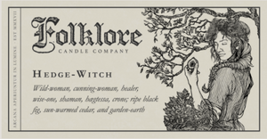 Hedge Witch Candle 10oz by Folklore Candle Company Made in Ontario Canada