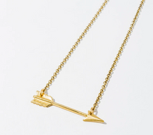 Load image into Gallery viewer, Small Arrow Necklace Gold Plated
