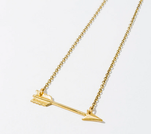 Small Arrow Necklace Gold Plated