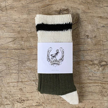 Load image into Gallery viewer, Merino Wool Hunter Green Cabin Sock by Blackbird Vintage Finds in Toronto