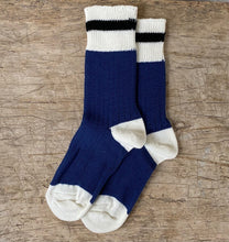 Load image into Gallery viewer, Merino Navy Cabin Sock