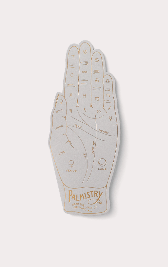 Noat Palmistry Flat Greeting Card