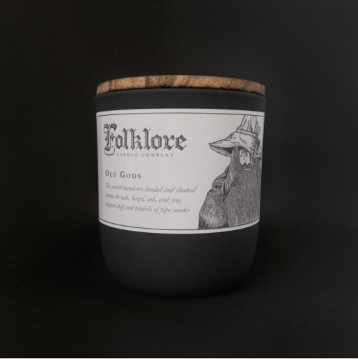 Old Gods Candle By Folklore Candle Company Made in Ontario Canada