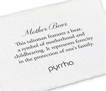 Load image into Gallery viewer, Pyrrha - Mother Bear Talisman Necklace