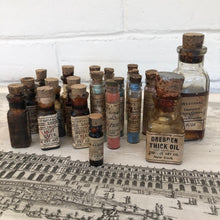 Load image into Gallery viewer, Rare Antique Fry Art Set of Paint Bottles c1900