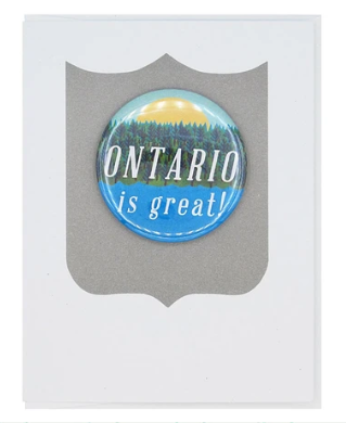 Ontario is Great Button Card