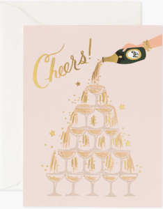 Champagne Tower Cheers Card by Rifle Paper