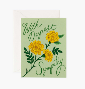 With Deepest Sympathy Card by Rifle Paper