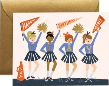 Cheer Birthday Card by Rifle Paper
