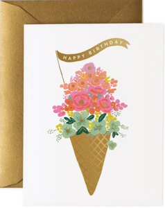 Ice Cream Cone Birthday Card by Rifle Paper