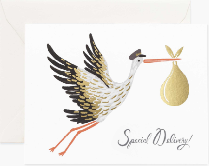 Stork Special Delivery Card by Rifle Paper