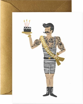 Strongman Happy Birthday Card by Rifle Paper