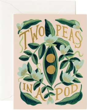 Two Peas in a Pod Card by Rifle Paper
