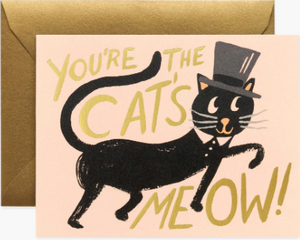 Cat's Meow Greeting Card By Rifle Paper