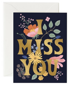 I Miss U Card by Rifle Paper Co