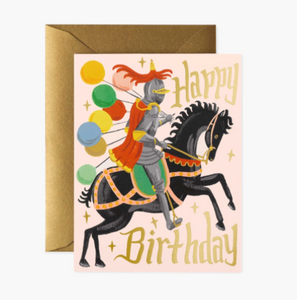 Knight Birthday Card by Rifle Paper Company