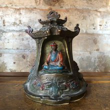 Load image into Gallery viewer, Vintage Bronze Buddha Pagoda Bookend c1930 Kronheim Oldenbusch