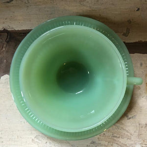 Vintage Fire King Jadeite Cup and Saucer