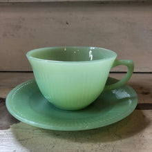 Load image into Gallery viewer, Vintage Fire King Jadeite Cup and Saucer