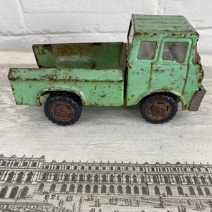 Vintage Marx Green Steel Pick Up Truck c1971