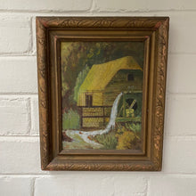 Load image into Gallery viewer, Vintage Oil on Board of Mill c1920 Unsigned