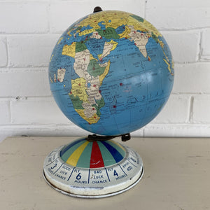 Vintage Replogle Air Race Magnetic Metal Globe c1950s