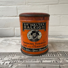 Load image into Gallery viewer, Vintage Sir Walter Raleigh Tobacco Tin Made in Louisville Kentucky