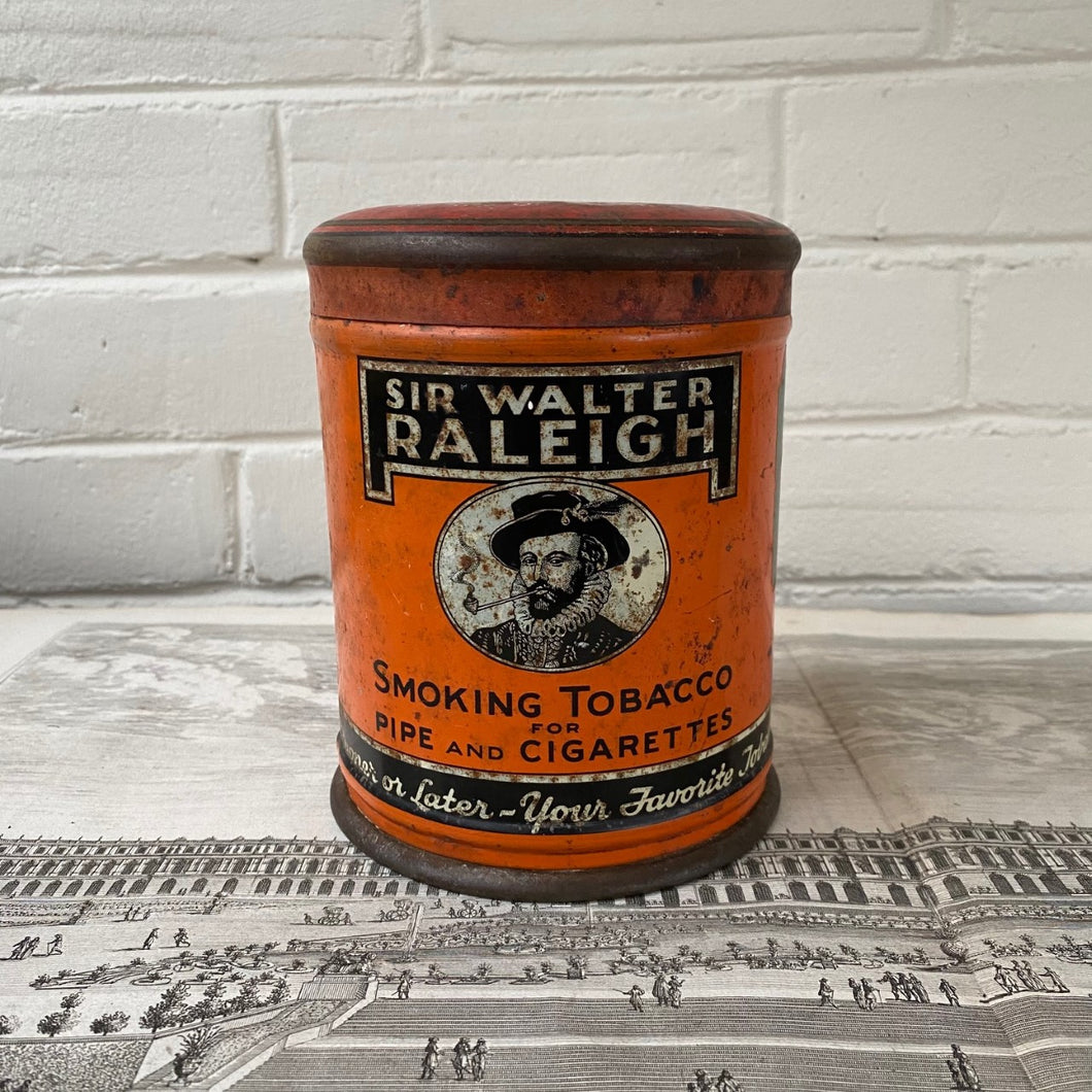 Vintage Sir Walter Raleigh Tobacco Tin Made in Louisville Kentucky