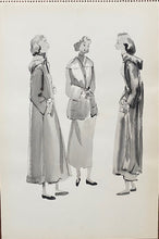 Load image into Gallery viewer, Mid-Century Vogue Fashion Sketch