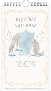 Animal Crest Birthday Calendar from The Regional Assembly of Text in Vancouver BC