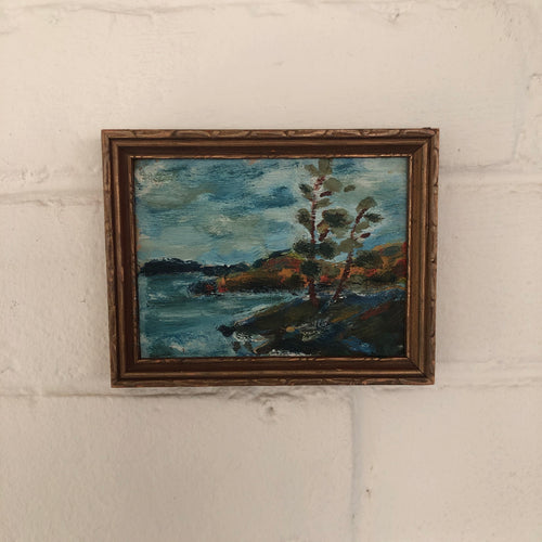 Vintage Oil Painting on Board with Original Frame c1939