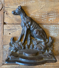 Load image into Gallery viewer, Antique Cast Iron Bookends Signed Hahn Hunting Dogs A Sportsman's Friend