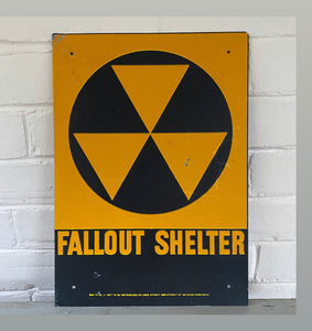 Vintage Fallout Shelter Sign c1960 Department of Defense