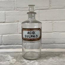 Load image into Gallery viewer, Antique Apothecary Bottle with Stopper -  Acid Sulph