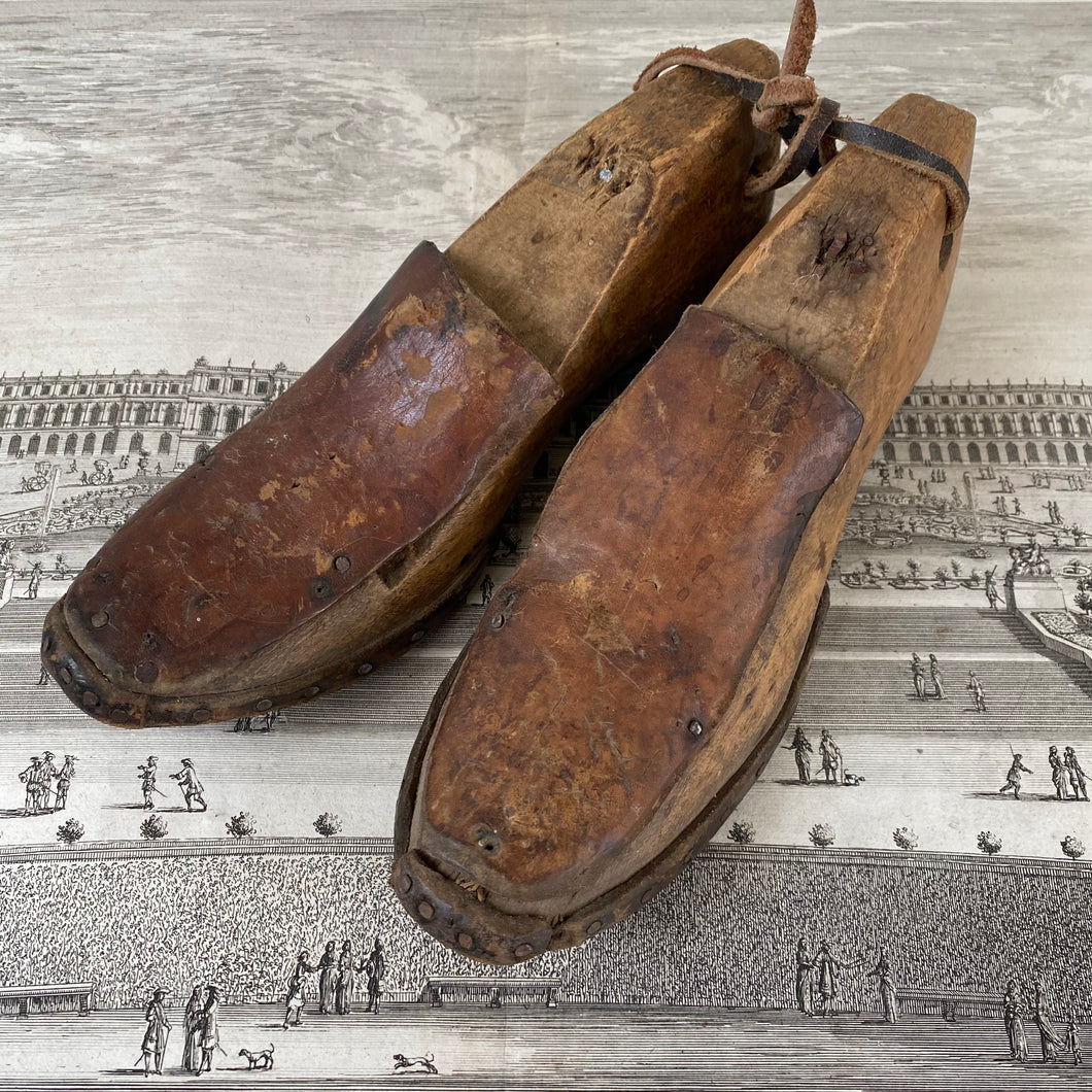 antique Pair of Wooden Shoe Forms