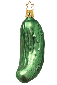 "Inge Glas Large 4.6"" Glass Pickle Ornament Made in Germany"