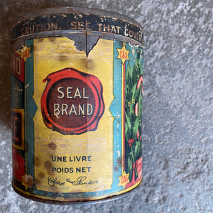 Antique Chase & Sanborn Coffee Tin Early 1900s