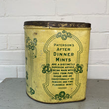 Load image into Gallery viewer, Vintage Paterson's Dinner Mints Tin