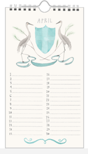 Load image into Gallery viewer, Animal Crest Birthday Calendar from The Regional Assembly of Text in Vancouver BC