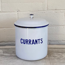 Load image into Gallery viewer, Vintage Swedish Enamel Canister - Currants