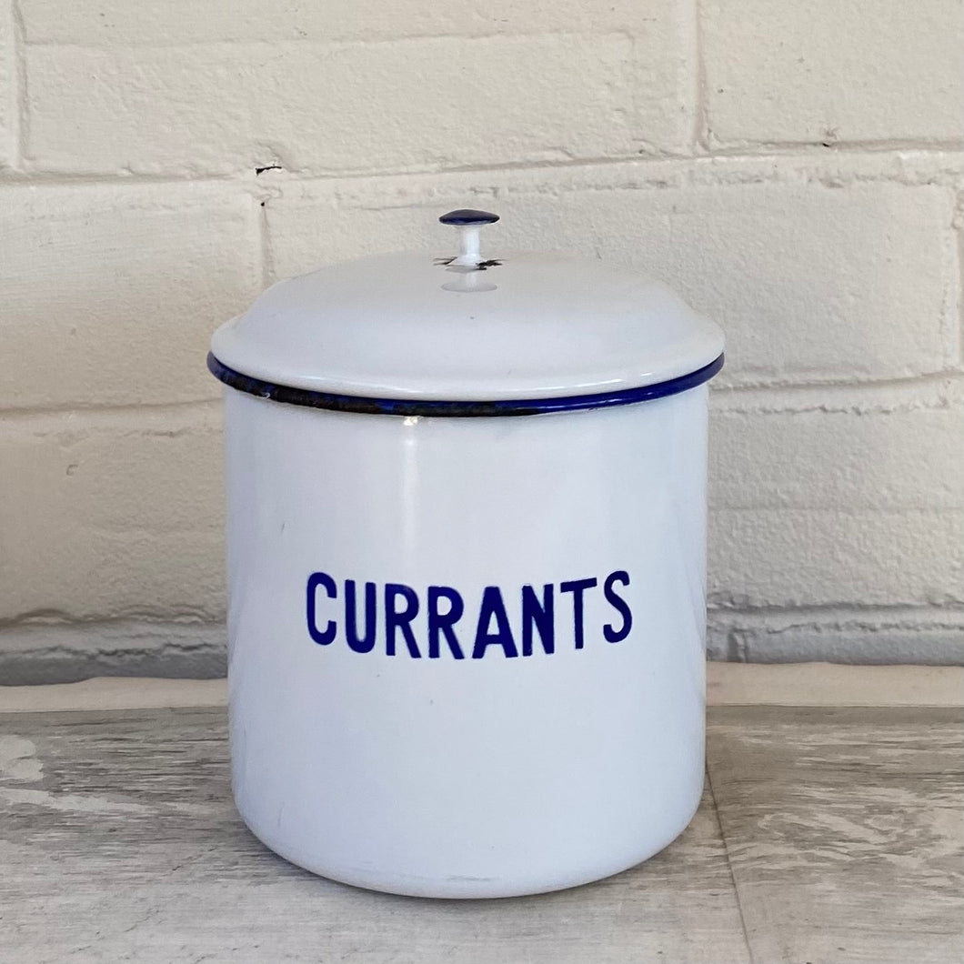 Vintage Swedish Enamel Canister - Currants
