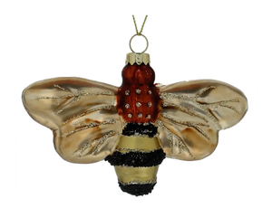 Glass Honey Bee Ornament by Cody Foster
