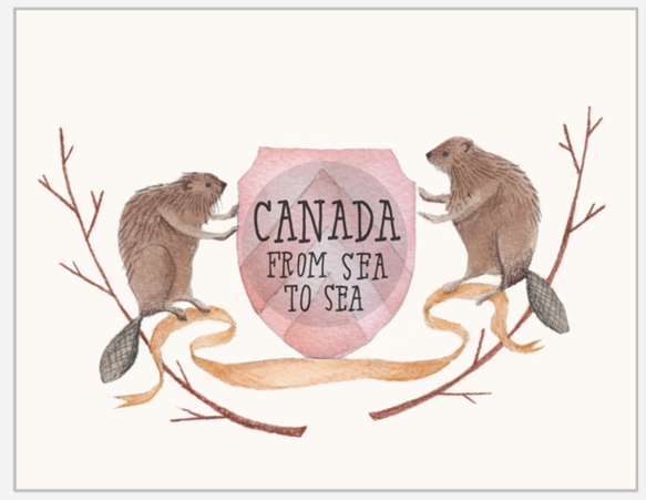 Canada From Sea to Sea Button Card by The Regional Assembly of Text in Vancouver