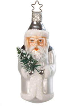 Noble Nikolaus Santa Glass Ornament from Inge Glas in Germany