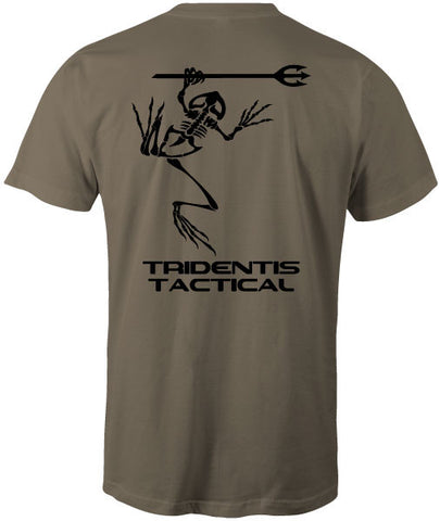 Tridentis Tactical Prairie Dust Men's T-Shirt Black Logo and Lettering