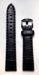 Black Leather 20mm Strap