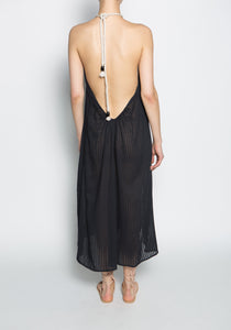 SU' Deep Open Back Sleeveless Long Tina Dress