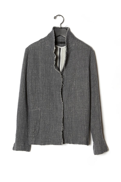 Felted Wool Raw Edge Skinny Jacket